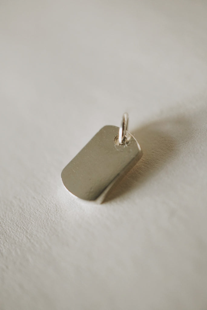Dog Tag Charm Pendant *made-to-order - Foe & Dear