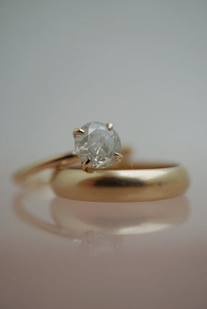 Only One Ring - 1.04ct Round Icy Salt and Pepper Diamond *ready-to-ship
