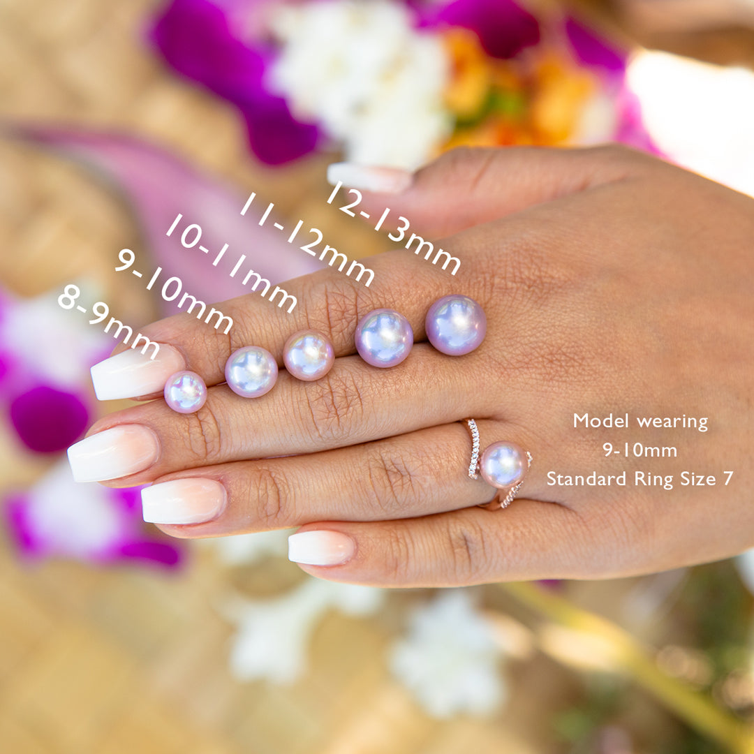 How to select the correct size pearl for your rings
