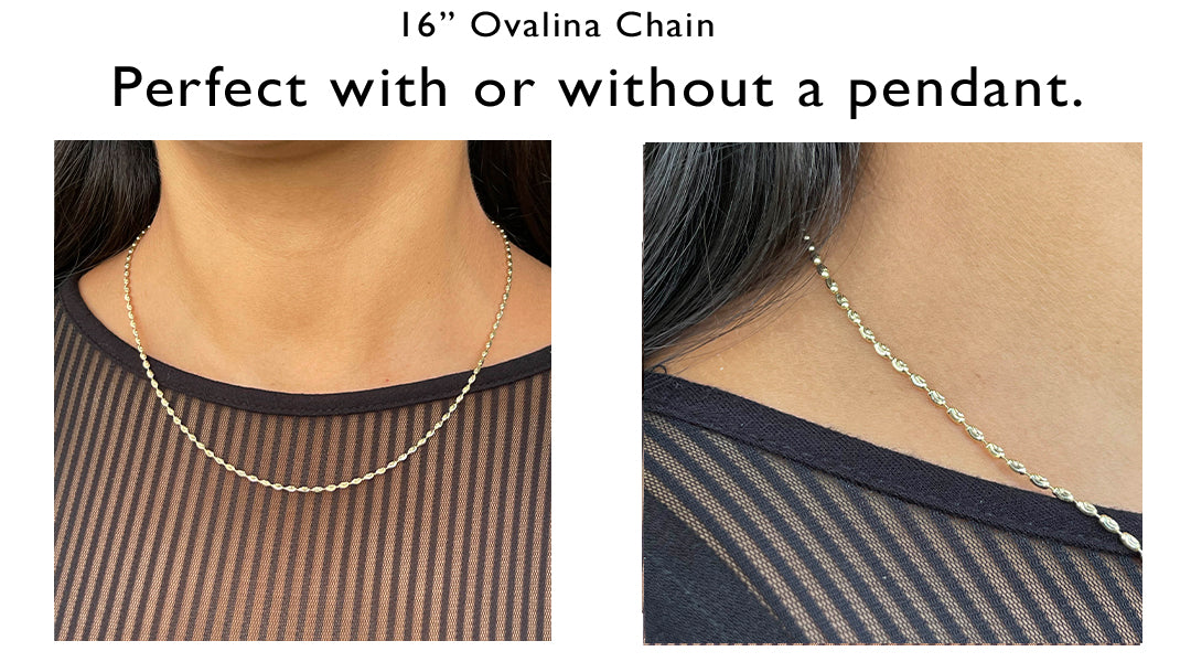16-inch Ovalina Chain in Gold on Momdel