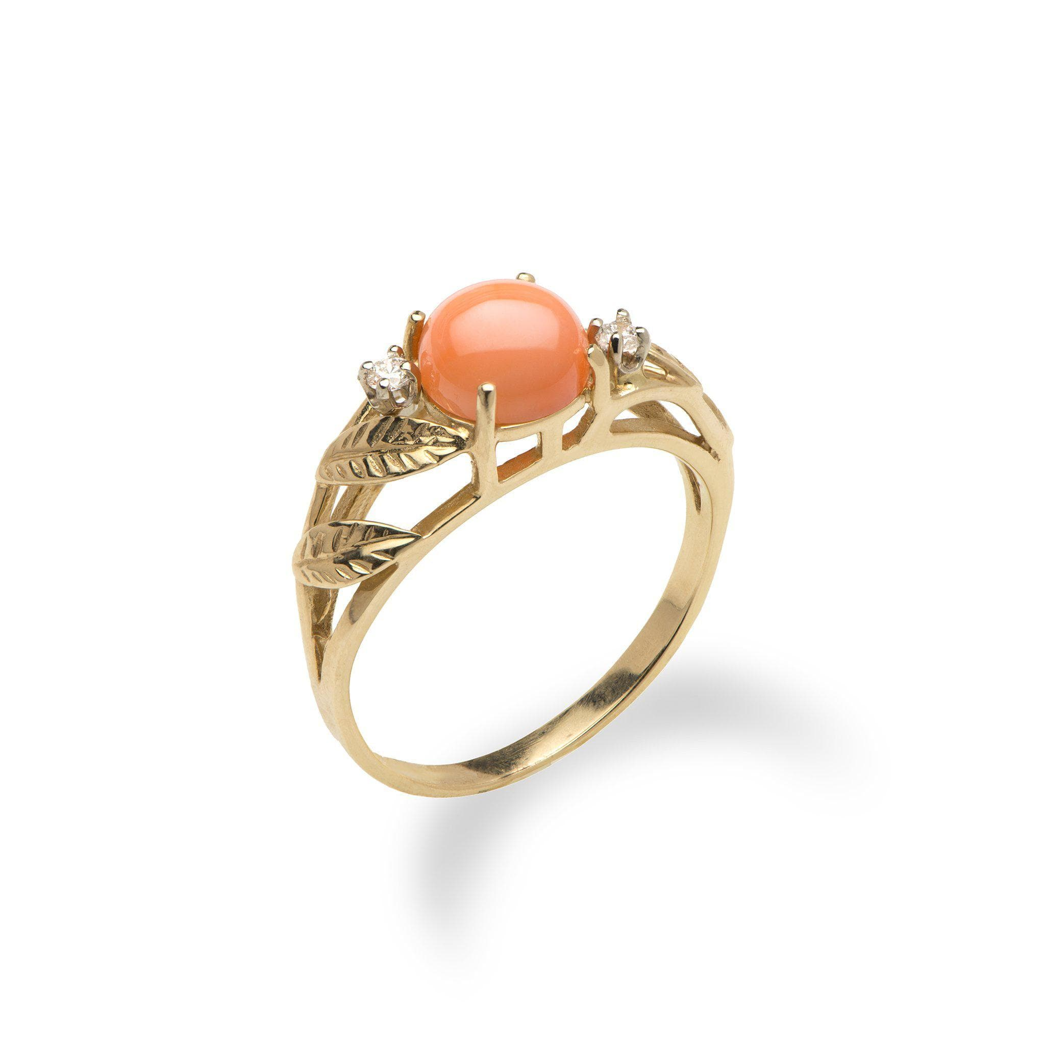 pink coral loading rings heart gemstone gold large ring and by neale puff brent