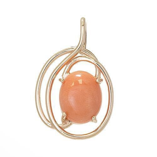yellow chain karat pendant a coral product in gold and jeffrey
