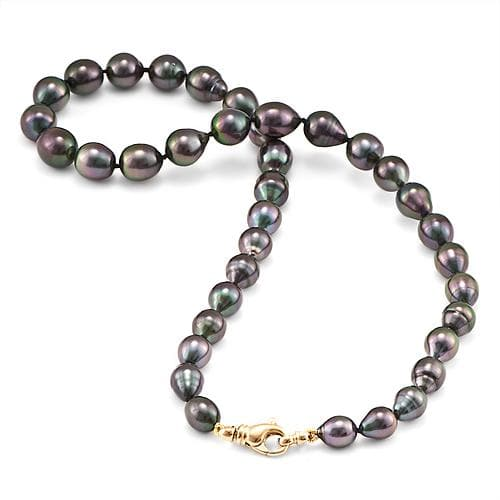 Tahitian South Sea Pearl Strand in 14K Yellow Gold (8-10.5 mm)