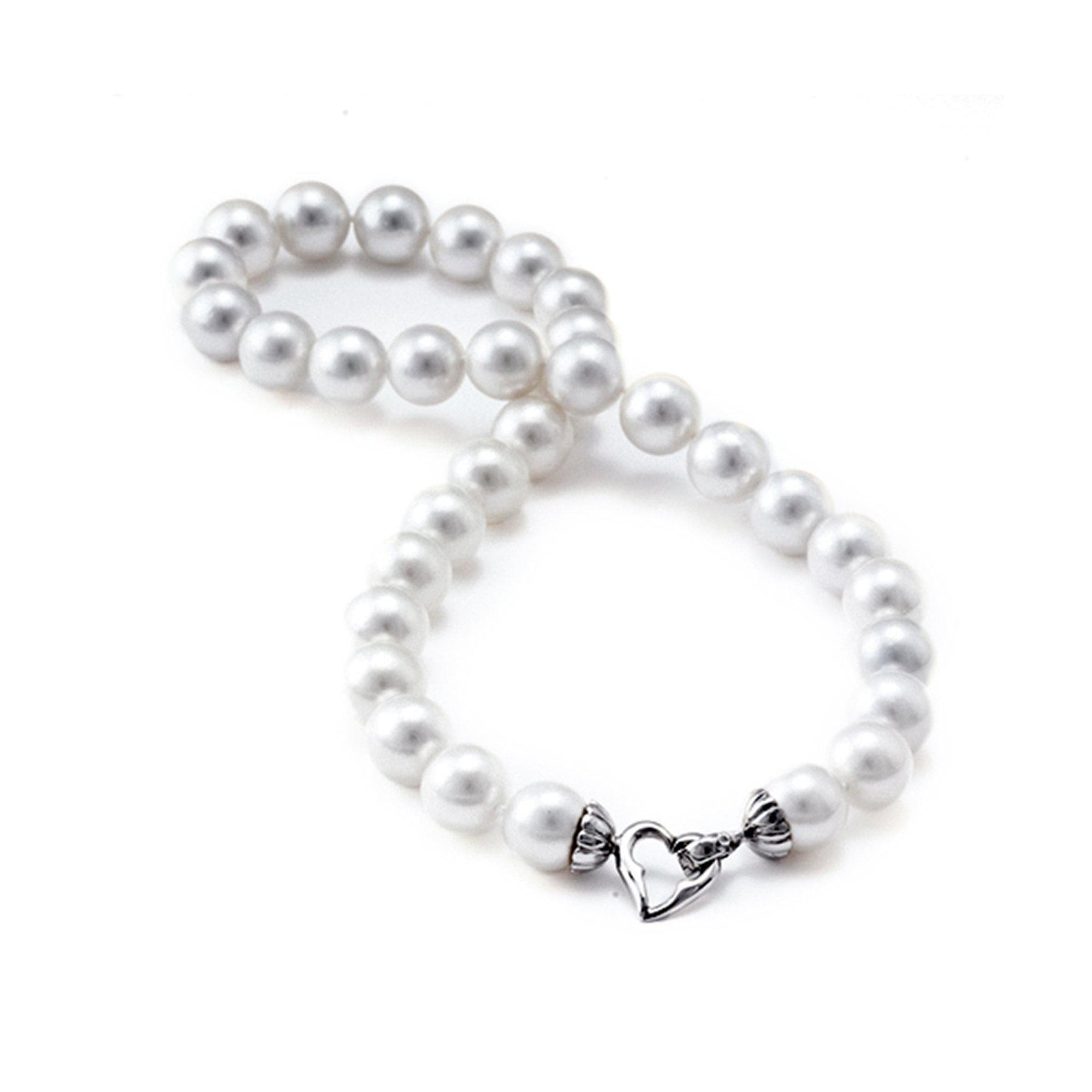 South Sea White Pearl Strand in 14K White Gold (11-12mm)
