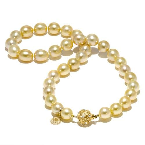 5ef1d5f570042 South Sea Golden Pearl Strand with Diamonds in 14K Yellow Gold (10-11mm)
