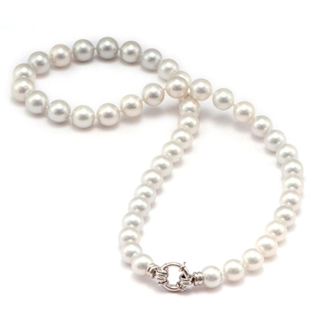 White South Sea Pearl Strand in 14K White Gold (9-11mm)