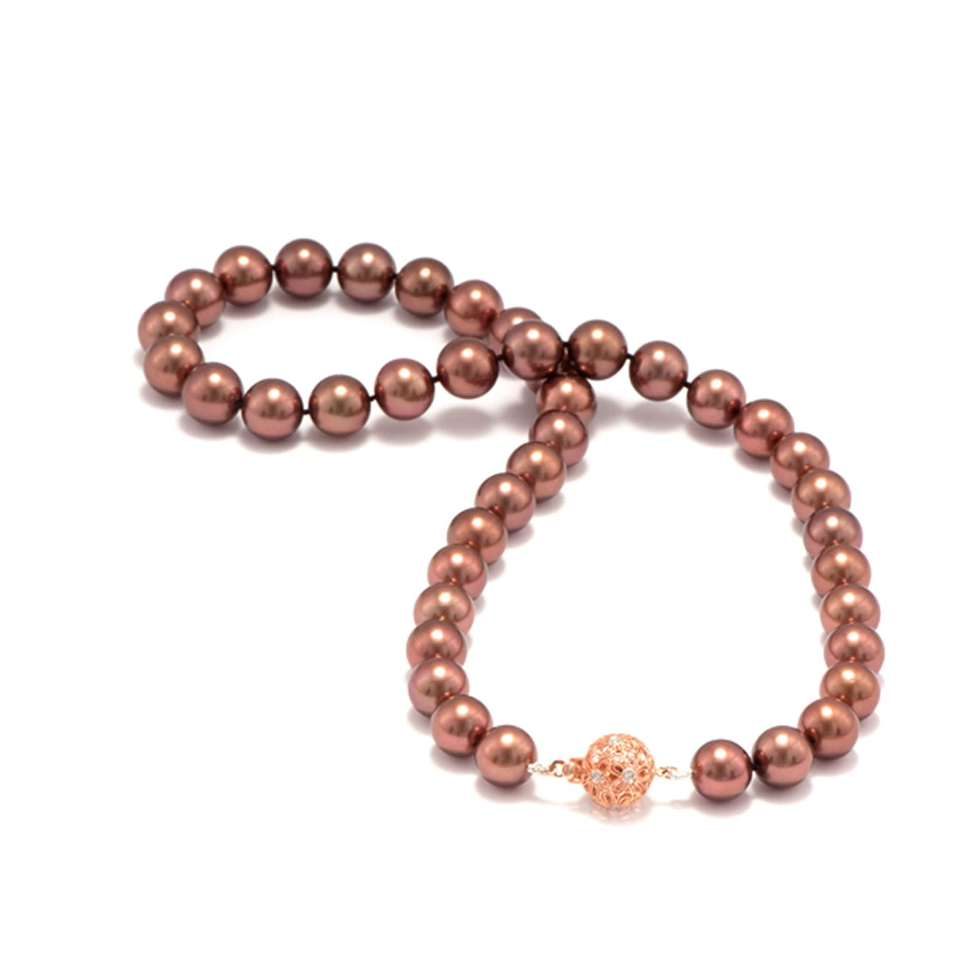 Chocolate Tahitian Pearl Strand in 14K Rose Gold (10-11mm) - Maui Divers Jewelry