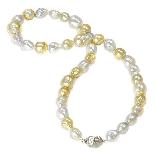 Mixed South Sea Pearl Strand in 14K Yellow Gold (9-14mm)-[SKU]