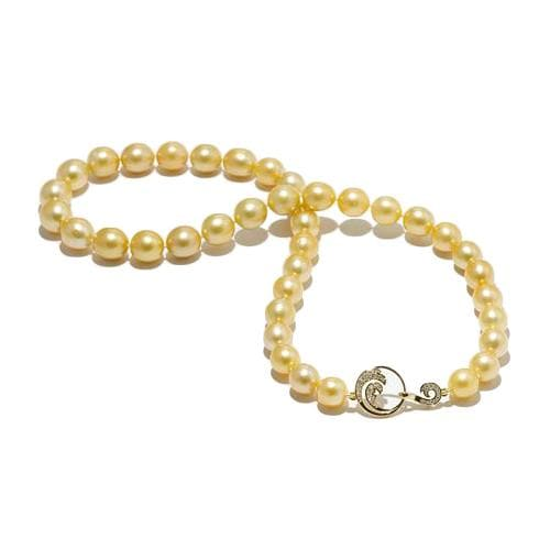 Nalu South Sea Golden Pearl (9-11mm) Strand in 14K Yellow Gold-[SKU]