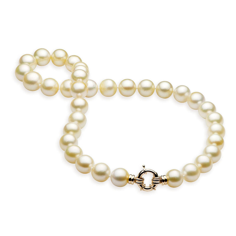 "18-19"" South Sea White Pearl Strand in Gold-Maui Divers Jewelry"
