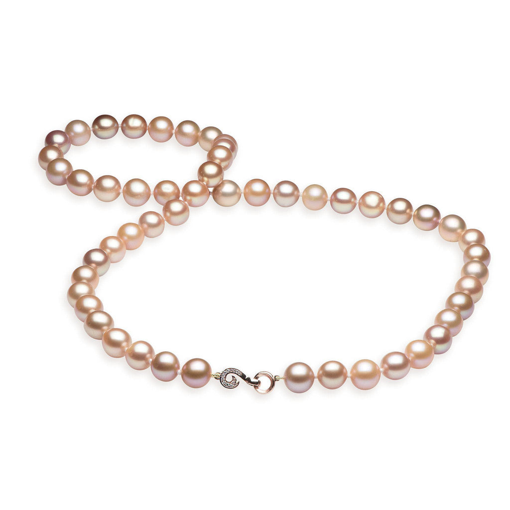 Nalu Freshwater Pearl Strand in Rose Gold with Diamonds