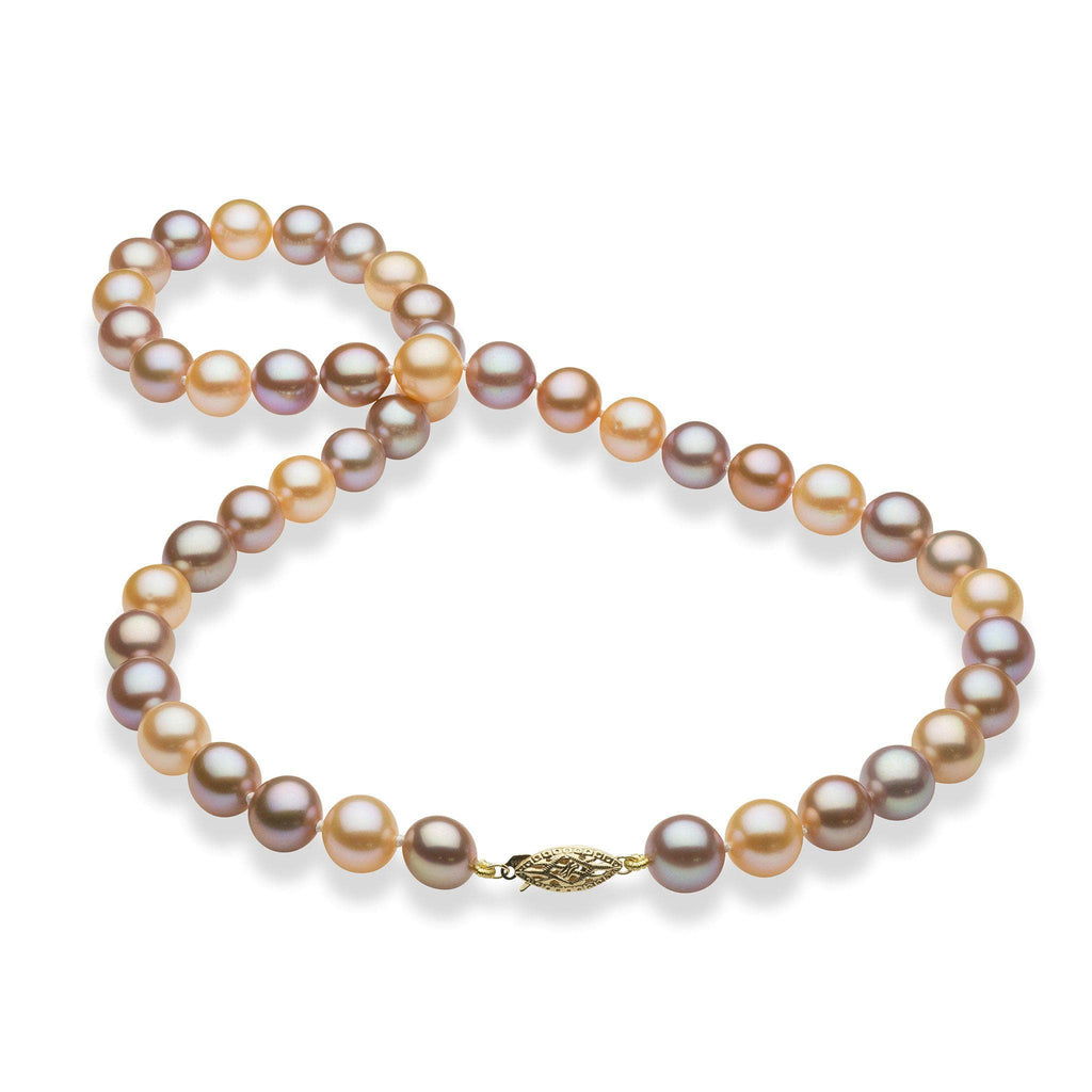 Mixed Freshwater Pearl Sunset Strand in 14K Yellow Gold (9-10mm)