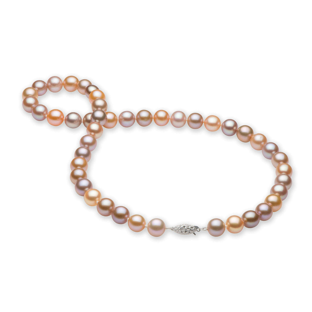 Freshwater Pearl Strand in 14K White Gold (9-10mm)