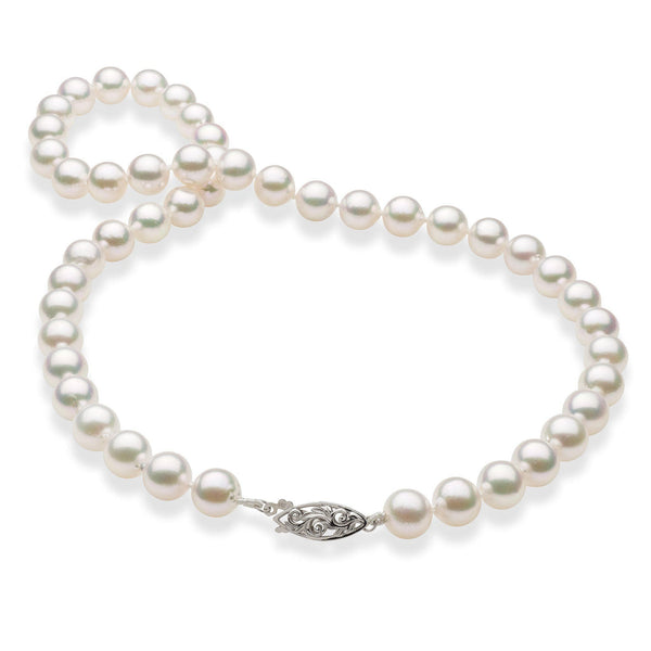 Akoya Pearl Strand with 14K White Gold Clasp-[SKU]