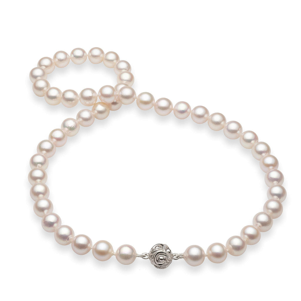 Akoya Pearl Strand in 14K White Gold 006-14810