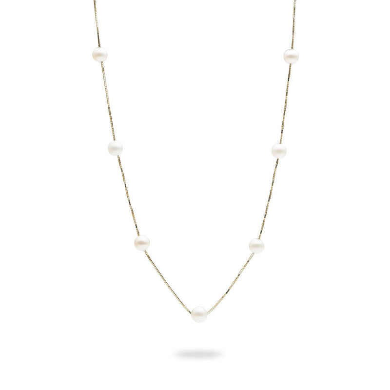"18"" Freshwater Pearl Necklace in Gold-Maui Divers Jewelry"