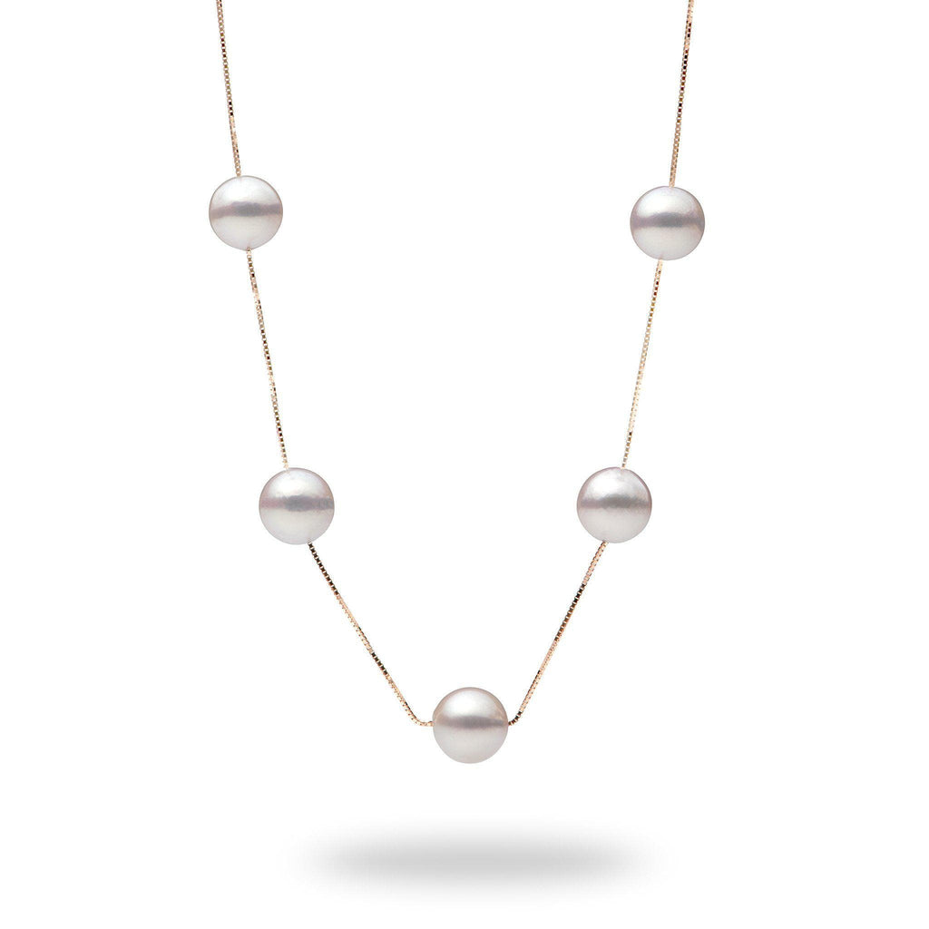 Akoya Pearl (8mm) Necklace in 14K Rose Gold