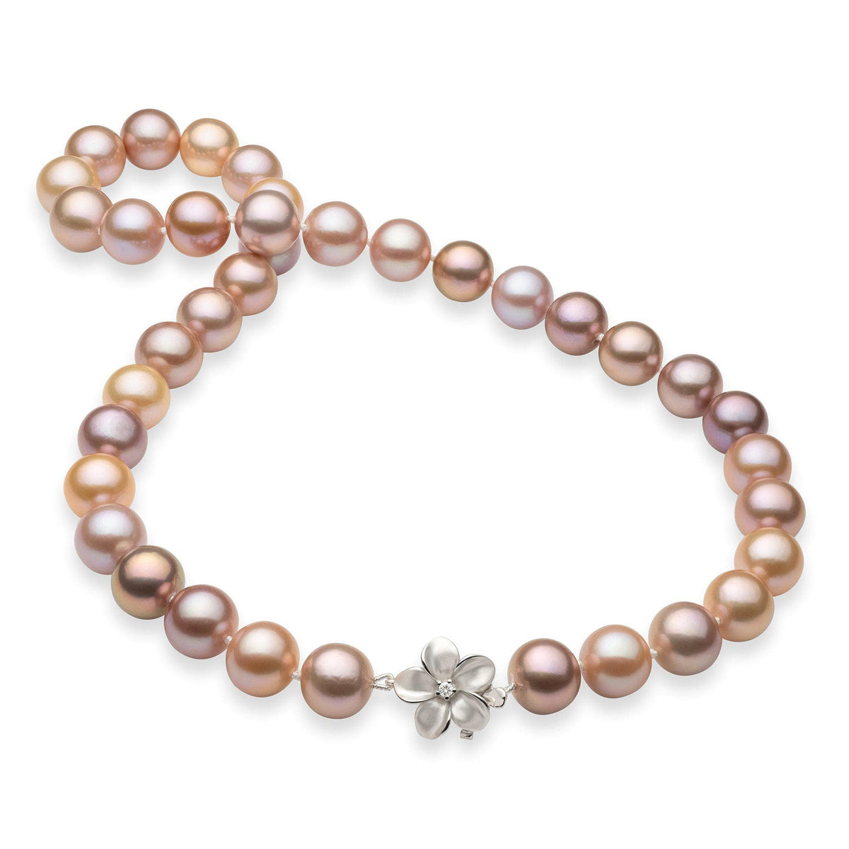 Freshwater Pearl Strand in 14K White Gold Other With Diamonds 006-14857