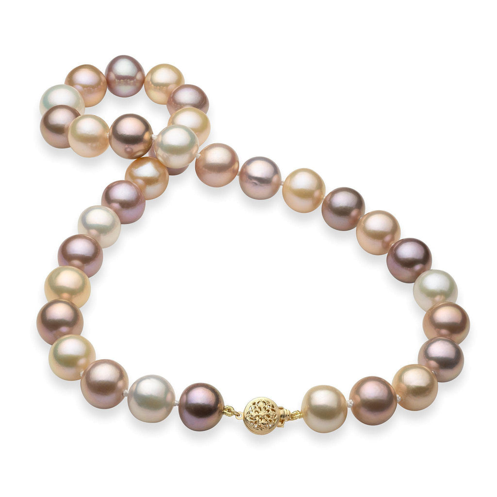 Freshwater Pearl Strand in 14K Yellow Gold (10-15mm)