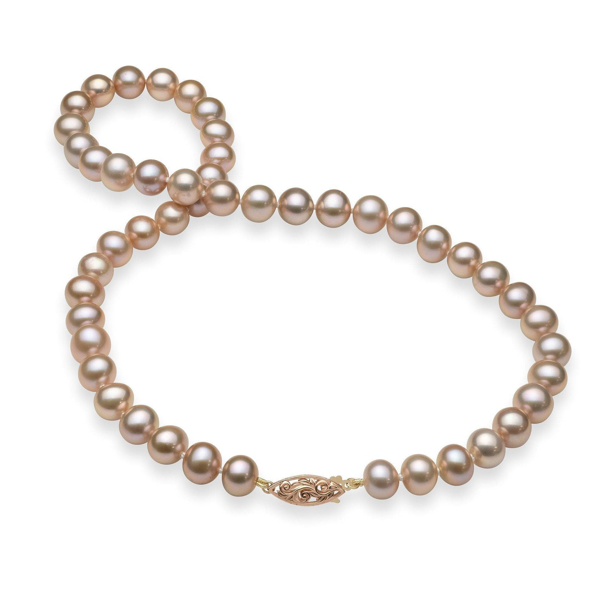 Akoya Pearl (8-11.5mm) Strand in 14K Rose Gold