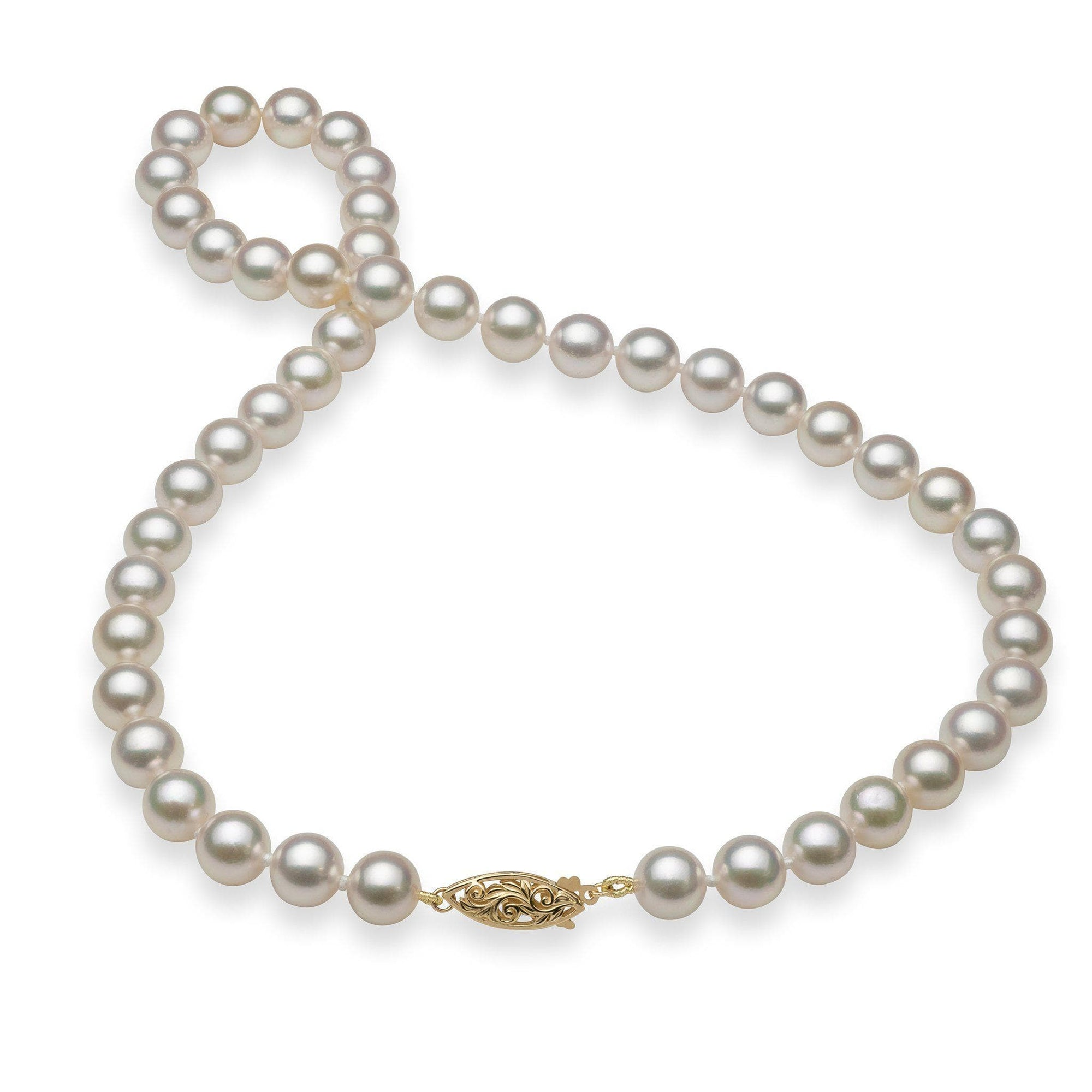 Akoya Pearl (8.5-9.5mm) Strand in 14K Yellow Gold