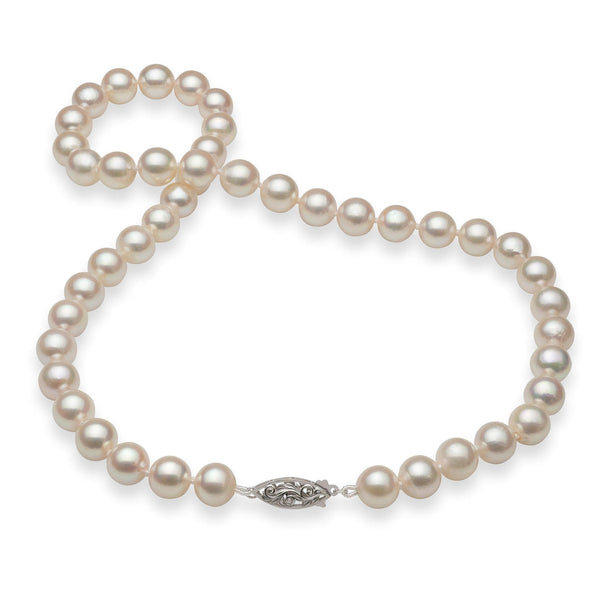 Akoya Pearl Strand with 14K White Gold Clasp - Maui Divers Jewelry