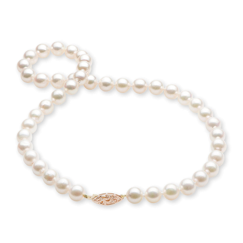 Akoya Pearl Strand with 14K Rose Gold Clasp - Maui Divers Jewelry