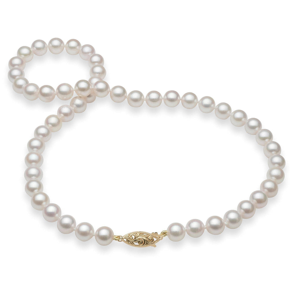 Akoya Pearl (8-8.5mm) Strand in 14K Yellow Gold