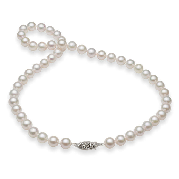 Akoya Pearl (8-8.5mm) Strand in 14K White Gold