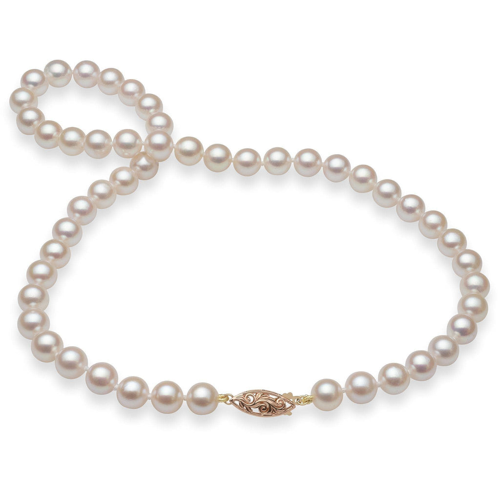 Akoya Pearl (8-8.5mm) Strand in 14K Rose-Yellow Gold