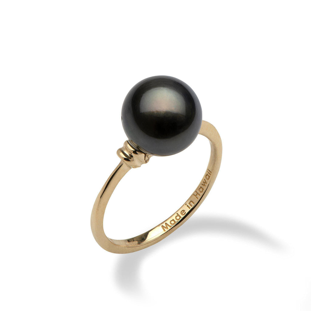 Tahitian Pearl Ring in 14K Yellow Gold  (9-10mm) - Maui Divers Jewelry