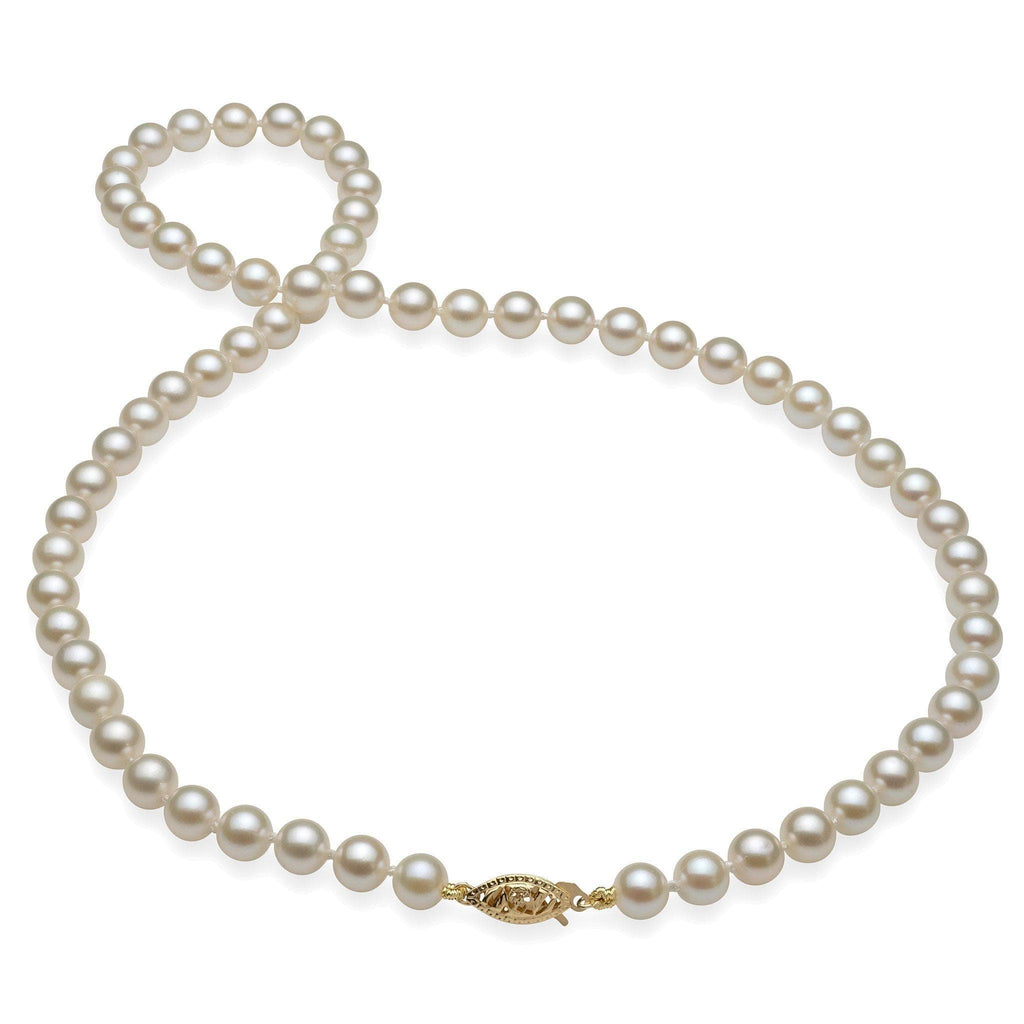 Akoya Pearl (6-6.5mm) Strand in 14K Yellow Gold