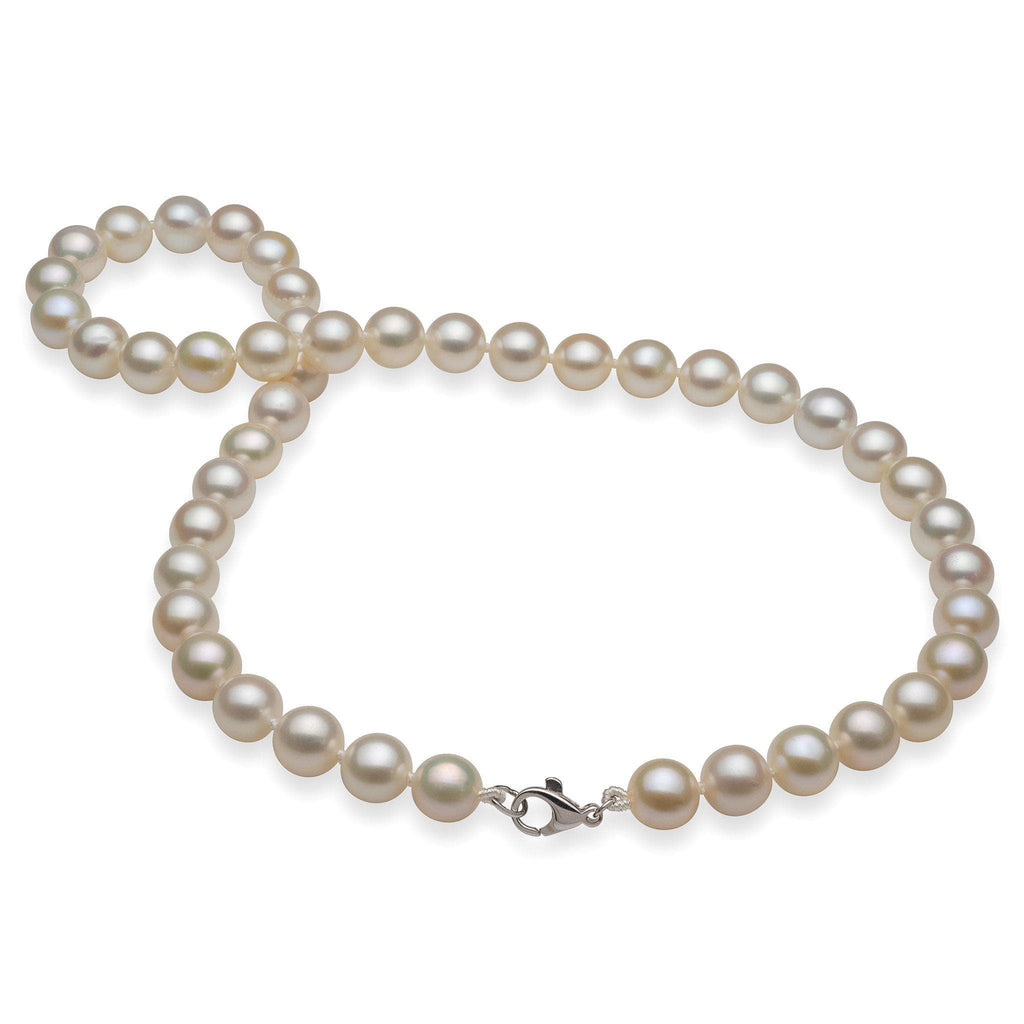 White Freshwater Pearl Strand in 14K White Gold