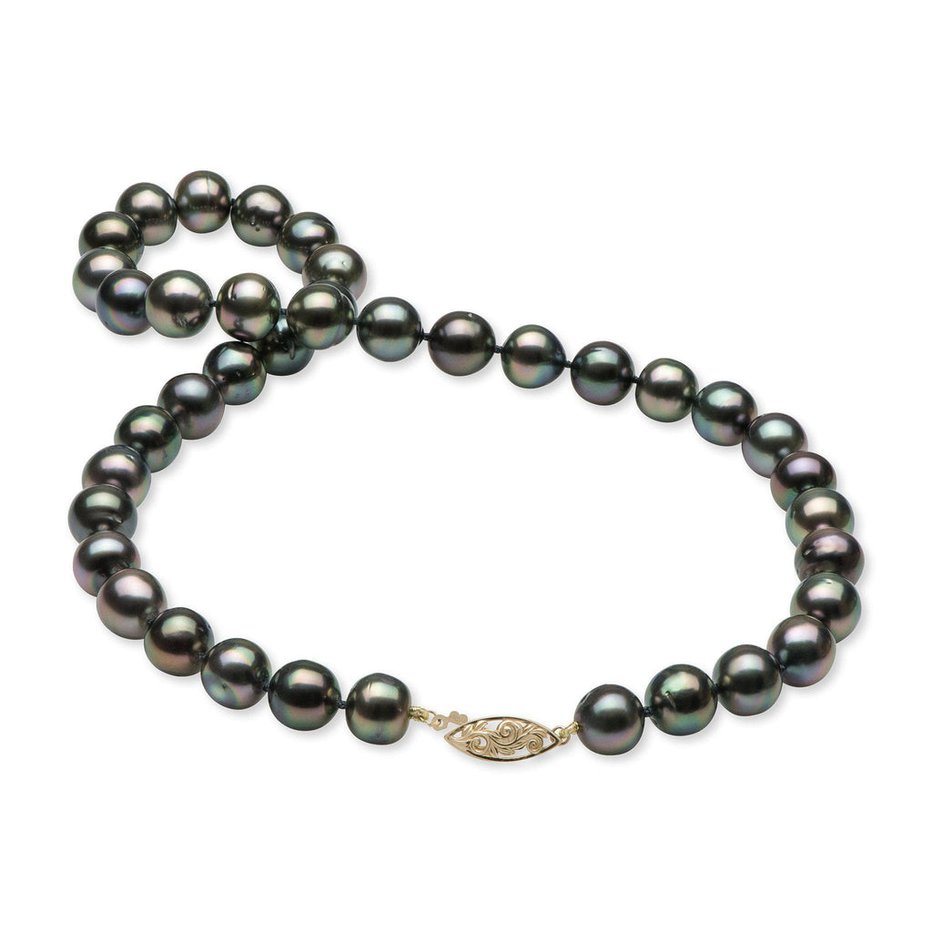 Tahitian Black Pearl (10-12mm) Strand in 14 Yellow Gold