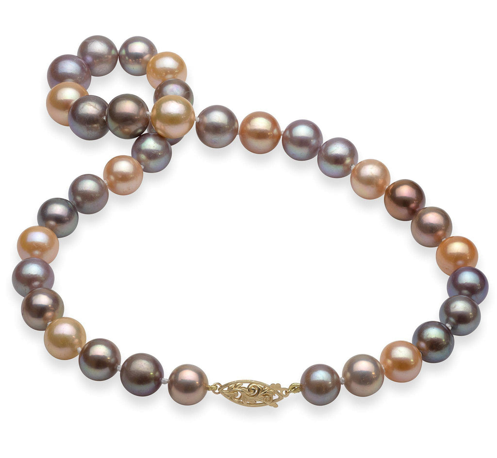"18-19"" Mixed Freshwater Pearl Strand in 14K Yellow Gold (9-13mm)-[SKU]"