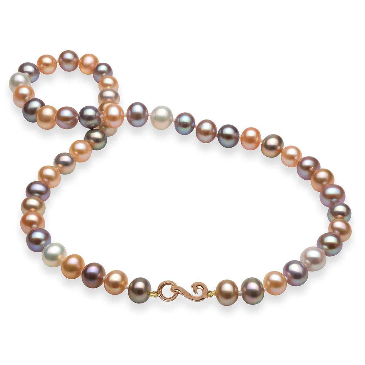 Freshwater Pearl (8-9.5mm) Strand in 14K Rose Gold 006-14977