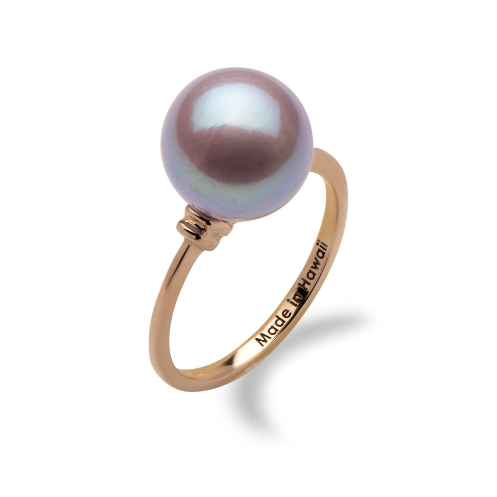 Lilac Freshwater Pearl Ring in 14K Rose Gold