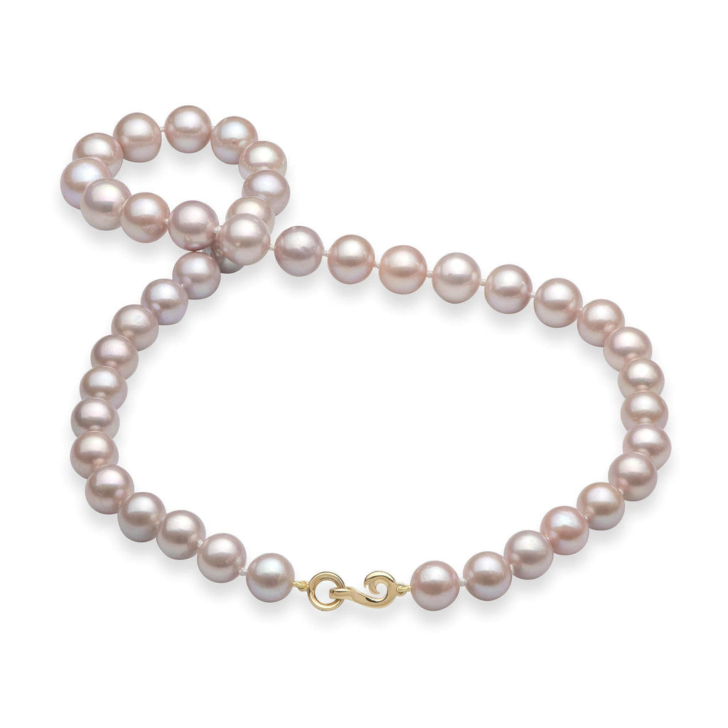 Lavender Freshwater Pearl (9-11mm) Strand in 14K Yellow Gold 006-15066