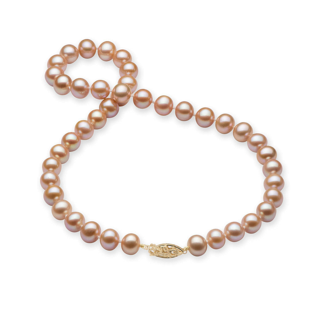 Pink Freshwater Pearl (9-11mm) Strand in 14K Yellow Gold 006-15071