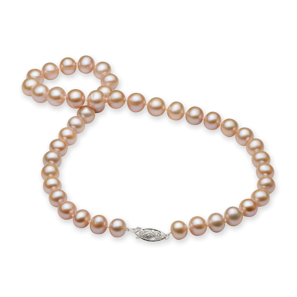 Pink Freshwater Pearl (9-11mm) Strand in 14K White Gold 006-15072