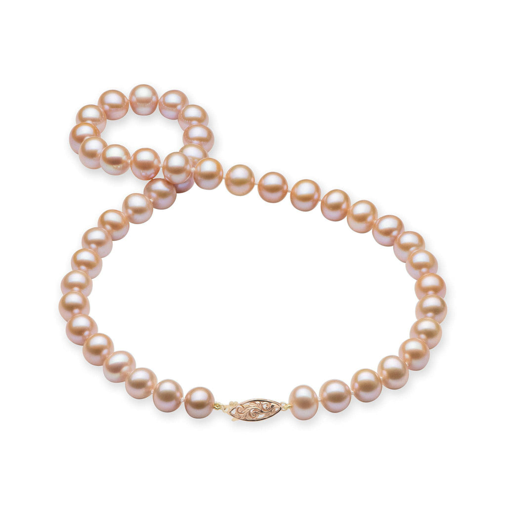 Pink Freshwater Pearl (9-11mm) Strand in 14K Two-tone Gold 006-15073