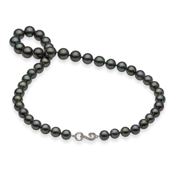 "18-19"" Tahitian Black Pearl Strand in White Gold-Maui Divers Jewelry"