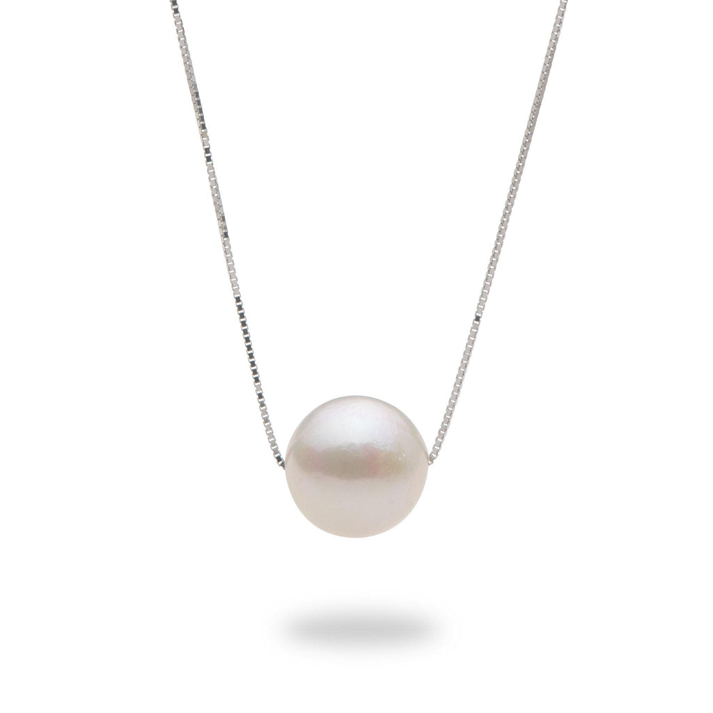 Akoya Pearl (10-10.5mm) Necklace in 14K White Gold 006-15083