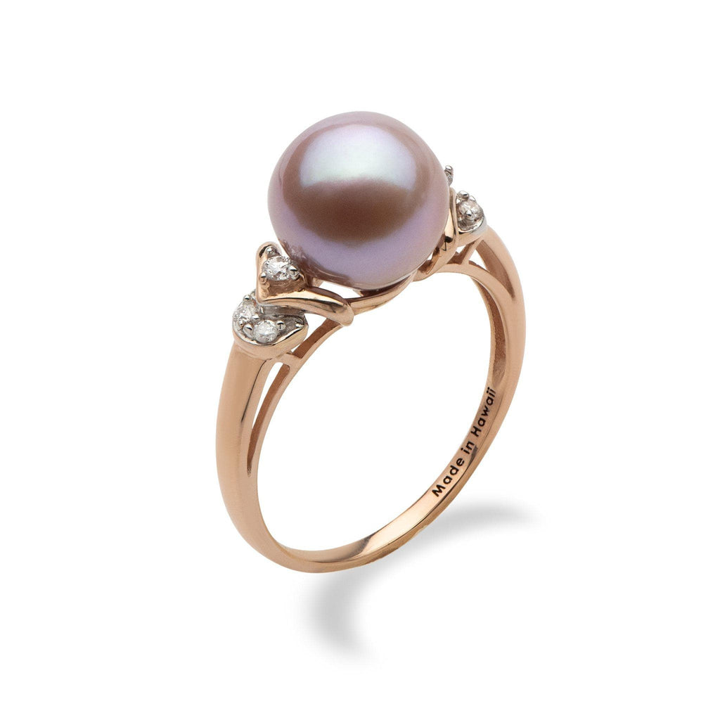 Purple pearl ring