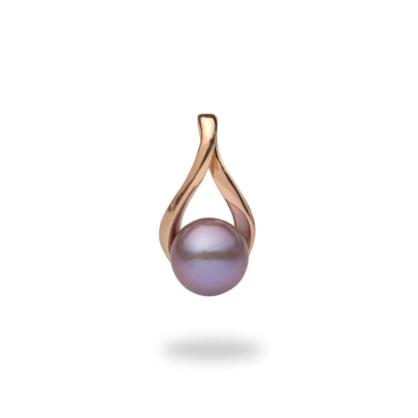 Ultraviolet Freshwater Pearl Pendant in Rose Gold-Maui Divers Jewelry