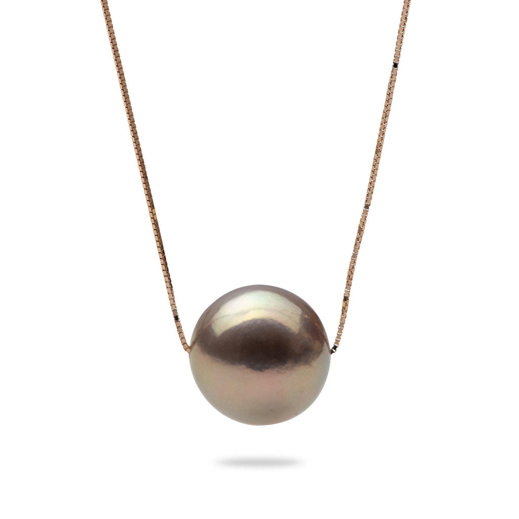 Freshwater Pearl (12-13mm) Necklace in 14k Rose Gold