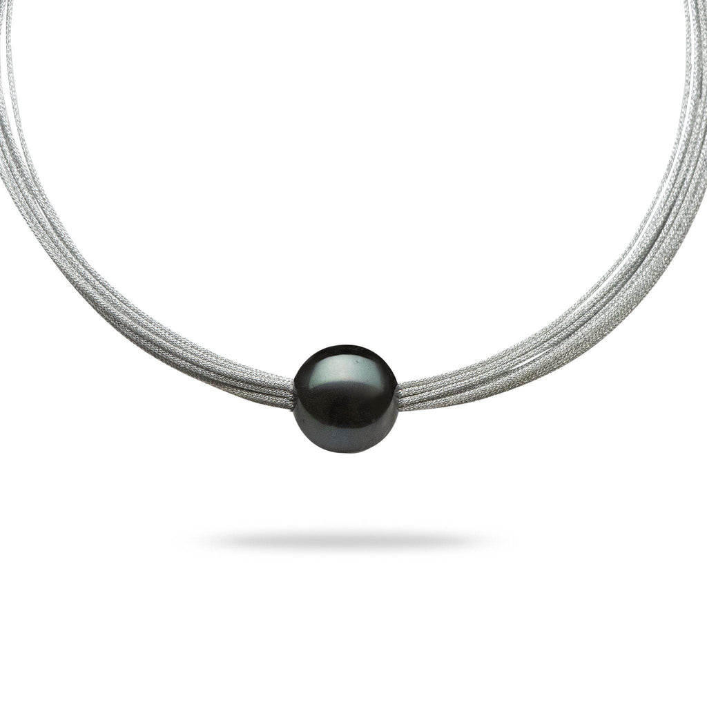 Freshwater Pearl (16-17mm) Necklace in Stainless Steel
