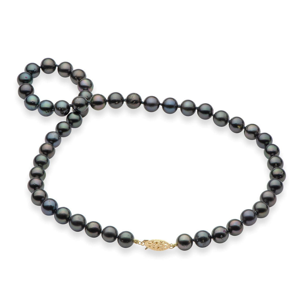 Tahitian Black Pearl Strand in 14K Yellow Gold
