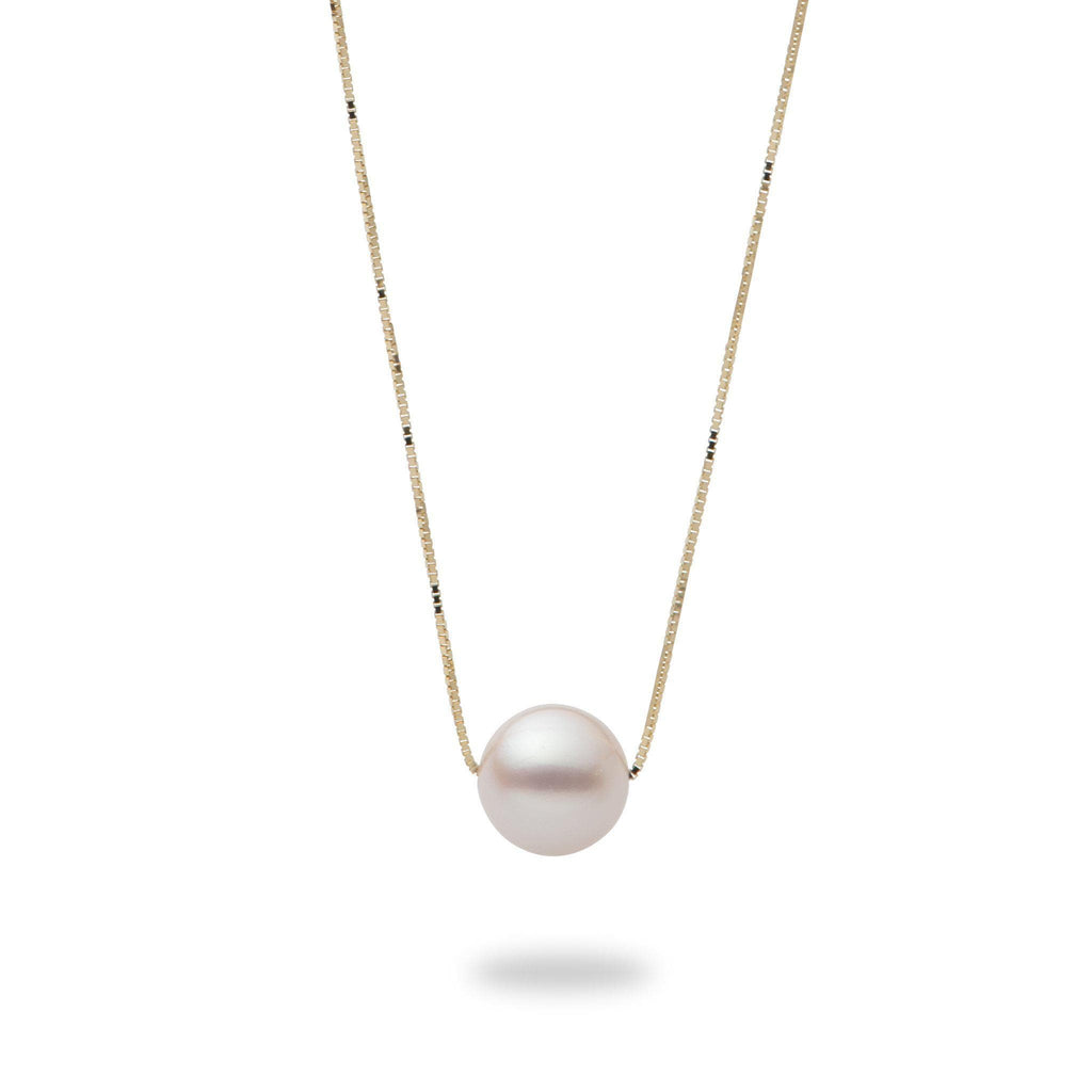 Akoya Pearl (8mm) Necklace in 14K Yellow Gold-006-15181