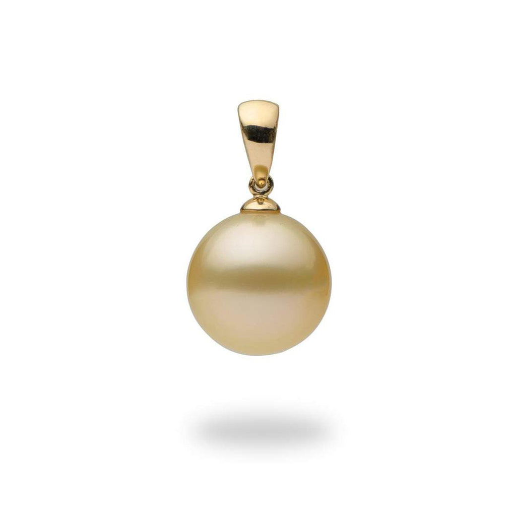 South Sea Golden Pearl Pendant in 14K Yellow Gold (13-14mm)-[SKU]